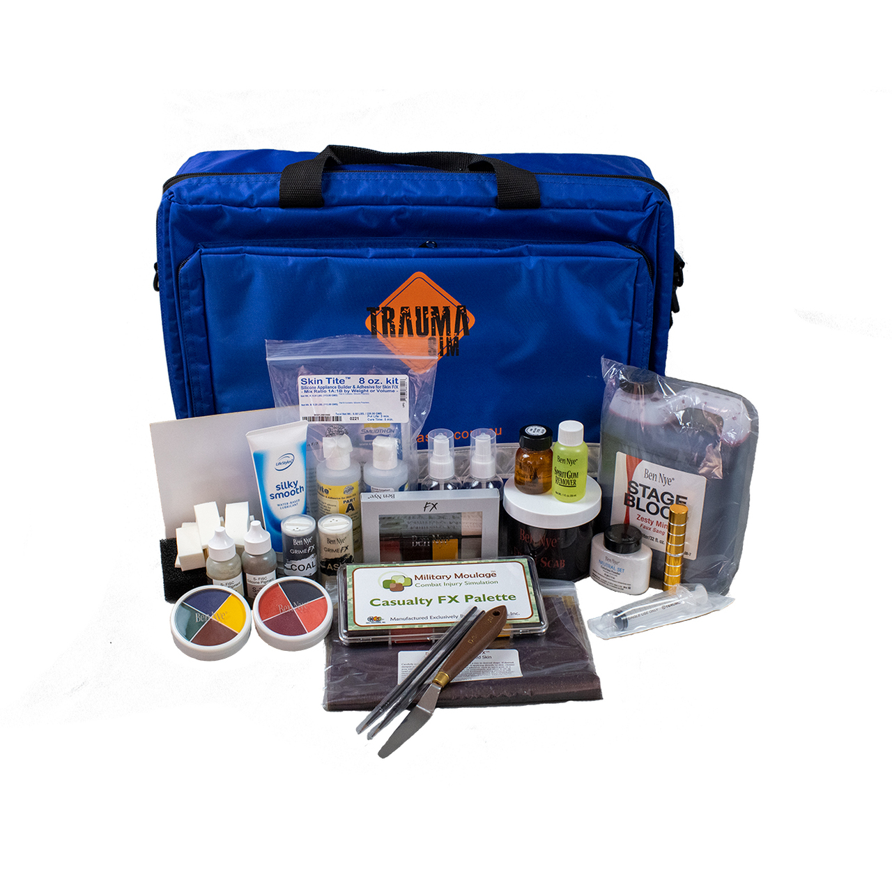 TraumaSim Advanced Moulage Kit with professional quality moulage products and consumables.